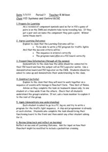 Systems and Control Lesson Plan