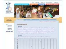 Fill the Number Grid Lesson Plan