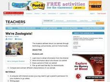 We're Zoologists! Lesson Plan
