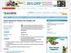 Asian-American History for Grades 6-8 Lesson Plan