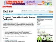 Presenting Powerful Outlines for Science Fair Reports Lesson Plan