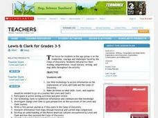 Lewis And Clark For Grades 3-5 Lesson Plan