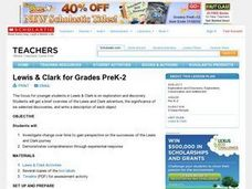 Lewis and Clark for Grades PreK-2 Lesson Plan