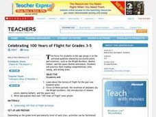 Celebrating 100 Years of Flight for Grades 3-5 Lesson Plan