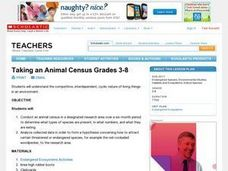 Taking an Animal Census Grades 3-8 Lesson Plan