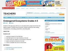 Endangered Ecosystems Grades 4-5 Lesson Plan