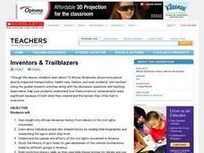 Inventors & Trailblazers Lesson Plan