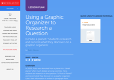 Using a Graphic Organizer to Research a Question Lesson Plan