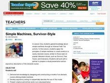 Simple Machines, Survivor-Style Lesson Plan