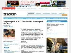 Beginning the READ 180 Routine - Teaching the Rotations Lesson Plan