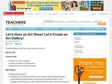 Let's Have an Art Show! Lesson Plan