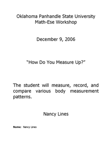 How Do You Measure Up Lesson Plan