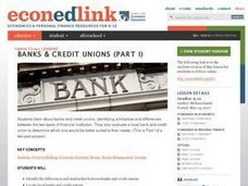 Banks and Credit Unions (Part 1): Millionaire Minute Lesson Plan