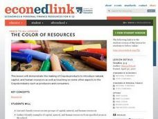 The Color of Resources Lesson Plan