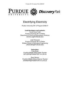 Electrifying Electricity Lesson Plan