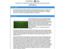 The Effect of Tides & Elevation on Wetland Plant Communities Lesson Plan