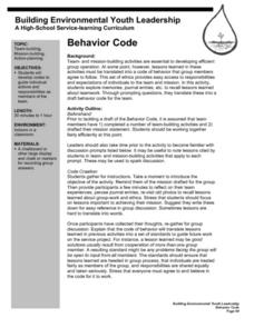 Behavior Code Lesson Plan