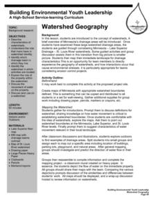 Watershed Geography Lesson Plan