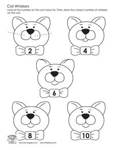 Cat Whiskers Worksheet