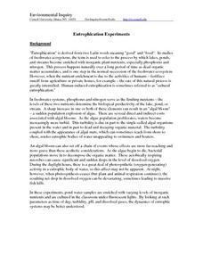 Eutrophication Experiments Lesson Plan