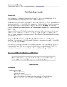 Acid Rain Experiments Lesson Plan