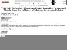 Science: The States of Matter Lesson Plan