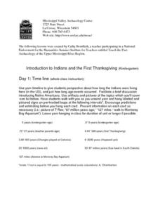 Introduction to Indians and the First Thanksgiving Lesson Plan