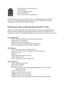 Pre-European Cultures of the Upper Mississippi River Valley Lesson Plan