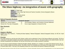The blues highway: An integration of music with geography Lesson Plan