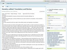Genetics Edited: Translation and Review Lesson Plan