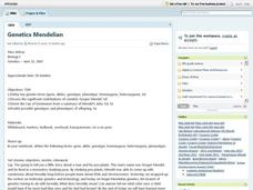 Genetics Mendelian Lesson Plan