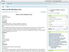 Intro To The Number Line Lesson Plan