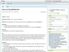 Intro To Quadrilaterals Lesson Plan