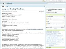 Using and Creating Timelines Lesson Plan