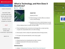 What Is Technology, and How Does It Benefit Us? Lesson Plan