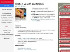 Shake It Up with Scatterplots Lesson Plan