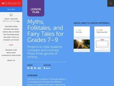 Myths, Folktales, & Fairy Tales for Grades 7-9 Unit