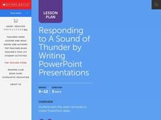Responding to A Sound of Thunder by Writing PowerPoint Presentations Lesson Plan