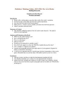 Guideline For Book Reports Lesson Plan