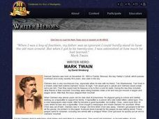 Mark Twain Lesson Plan