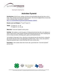 Activities Pyramid Lesson Plan