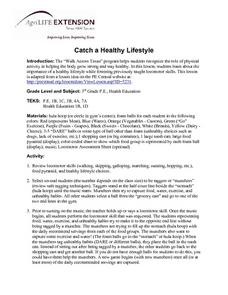 Catch a Healthy Lifestyle Lesson Plan