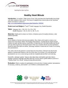Healthy Heart Minute Lesson Plan