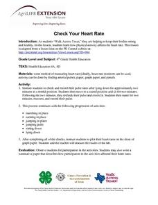 Check Your Heart Rate Lesson Plan