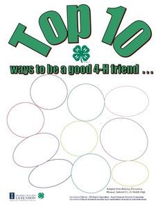 Top Ten Ways to be a Good 4-H Friend Lesson Plan