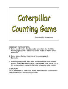 Caterpillar Counting Game Worksheet