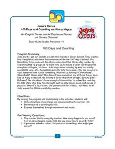 JoJo's Circus: 100 Days and Counting and Hoop Happy Lesson Plan