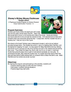 "Disney's Mickey Mouse Clubhouse: ""Goofy's Bird"" Lesson Plan"