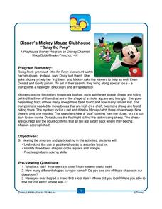 "Disney's Mickey Mouse Clubhouse ""Daisy Bo Peep"" Lesson Plan"