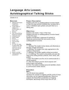 Autobiographical Talking Sticks Lesson Plan